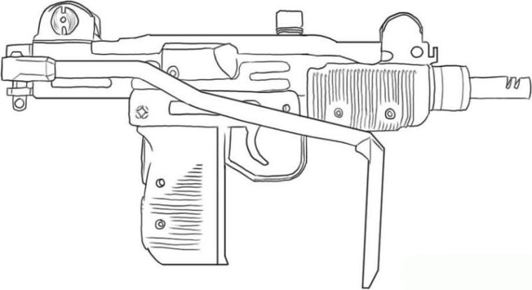 Ausmalbilder Waffen  Vorlagen zum Ausmalen Malvorlagen Waffe Ausmalbilder 1