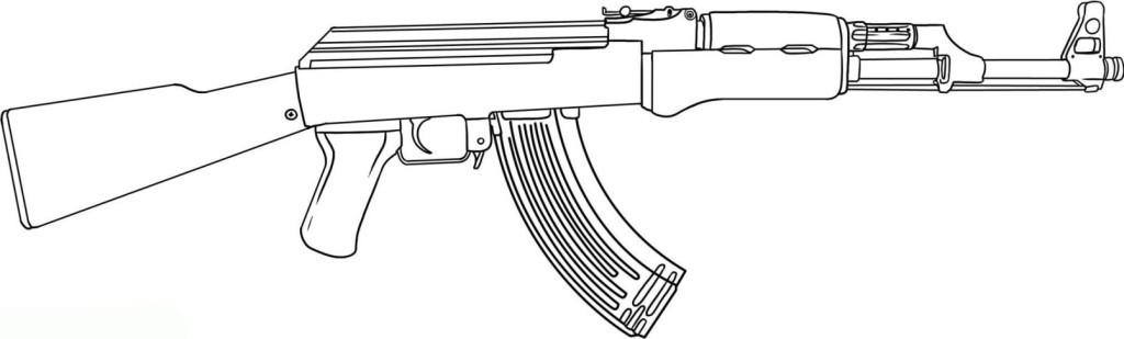 Ausmalbilder Waffen  Ausmalbilder für Kinder Waffe 6