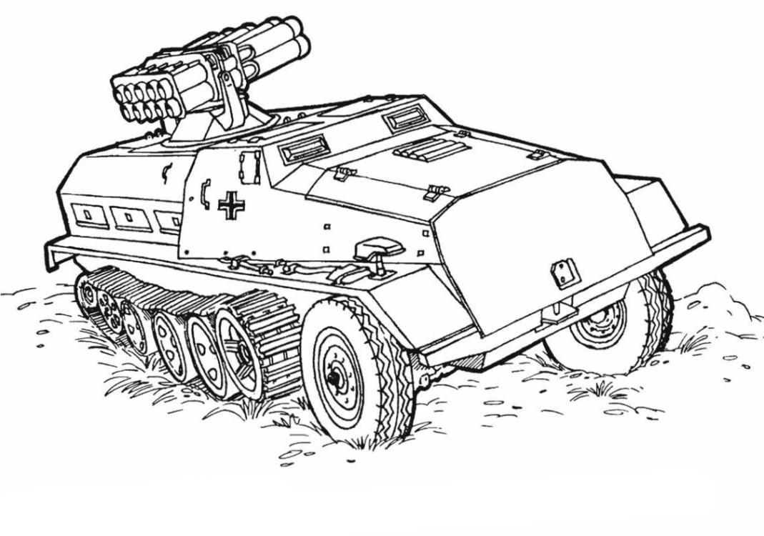 Ausmalbilder Waffen  panzer bilder zum ausmalen Malvorlagen Das Militär 152