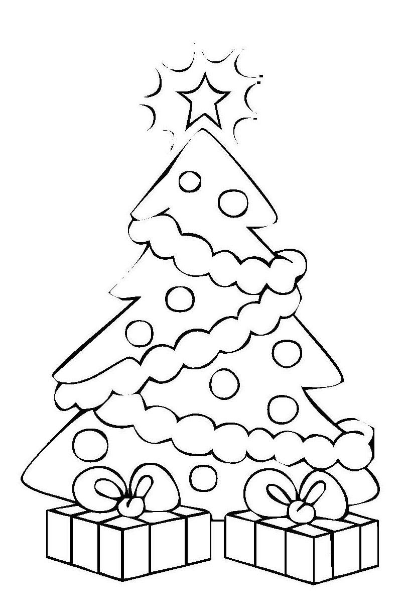Ausmalbilder Weihnachten Tannenbaum Mit Geschenken  Ausmalbilder weihnachtsbaum kostenlos Malvorlagen zum