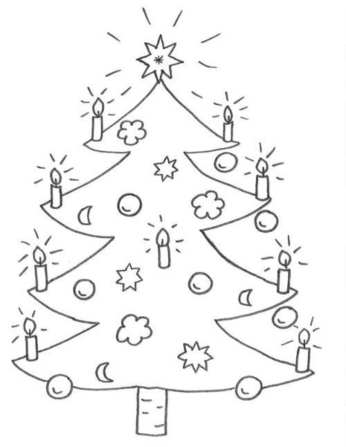 Ausmalbilder Weihnachten Tannenbaum Mit Geschenken  Kostenlose Malvorlage Weihnachten Weihnachtsbaum zum Ausmalen