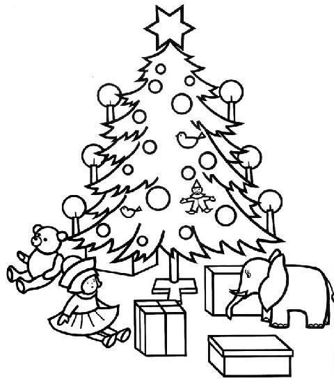 Ausmalbilder Weihnachten Tannenbaum Mit Geschenken  malvorlagen tannenbaum ausdrucken