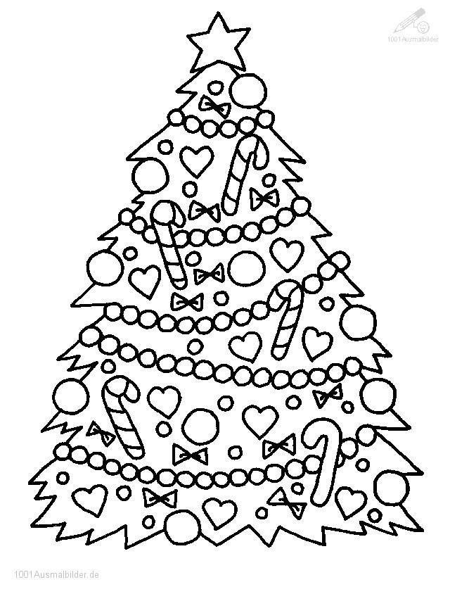 Ausmalbilder Weihnachten Tannenbaum Mit Geschenken  Ausmalbilder Weihnachtsbaum Ausmalbilder Gratis