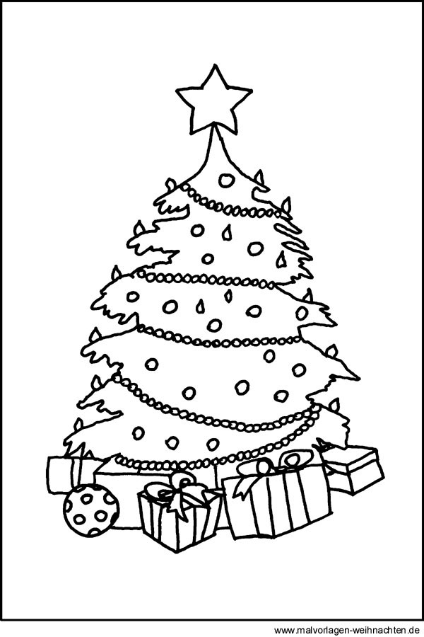 Ausmalbilder Weihnachten Tannenbaum Mit Geschenken  Tannenbaum Malvorlagen und Ausmalbilder zu Weihnachten