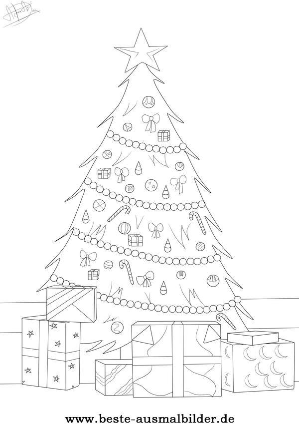 Ausmalbilder Weihnachten Tannenbaum Mit Geschenken  Ausmalbilder monster truck kostenlos Malvorlagen zum