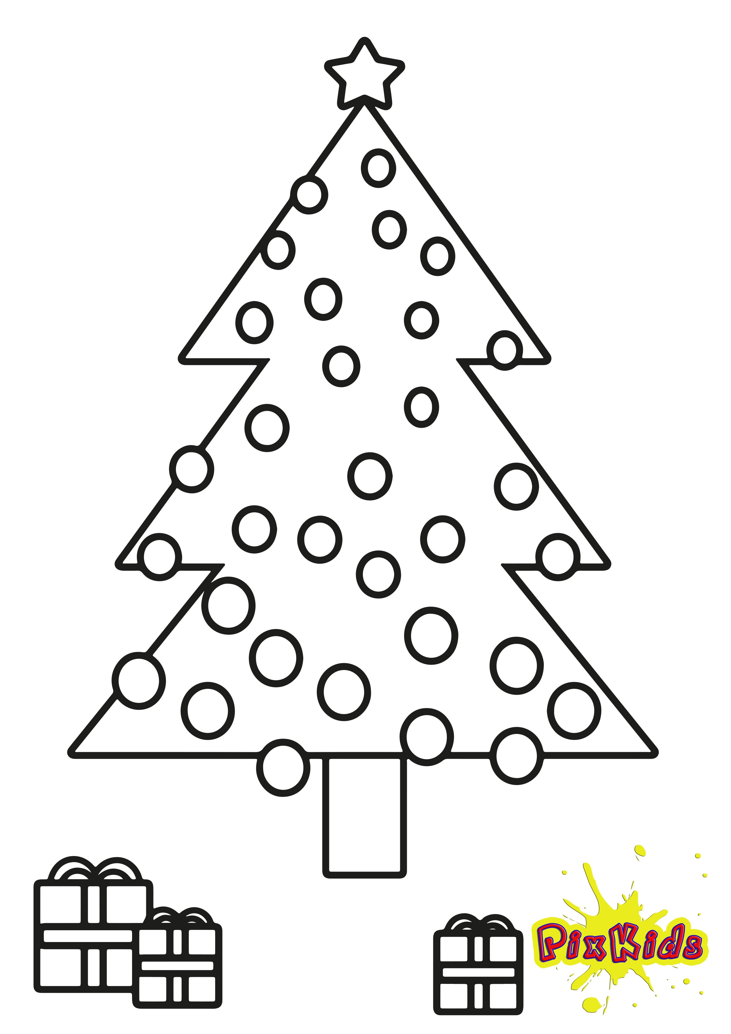 Ausmalbilder Weihnachten Tannenbaum Mit Geschenken  Ausmalbild Tannenbaum Weihnachtsbaum kostenlose Malvorlagen