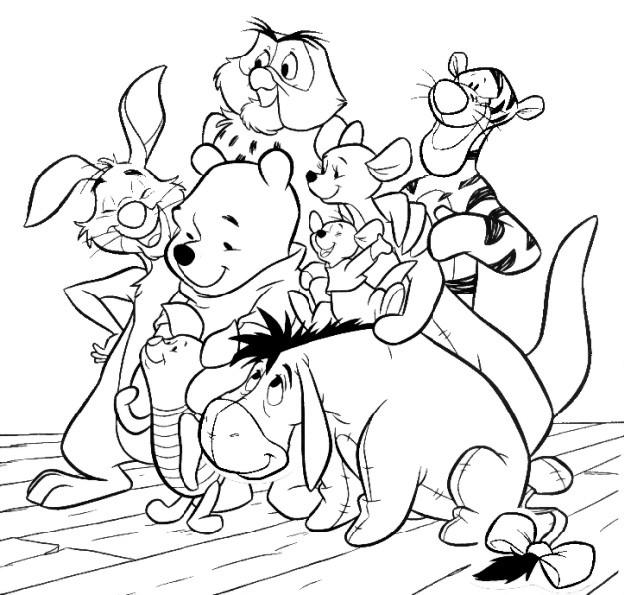 Ausmalbilder Winnie Pooh Und Seine Freunde Malvorlagen  Malvorlagen kostenlos