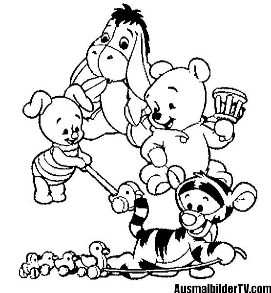 Ausmalbilder Winnie Pooh Und Seine Freunde Malvorlagen  Ausmalbilder Winnie Pooh AusmalbilderTV