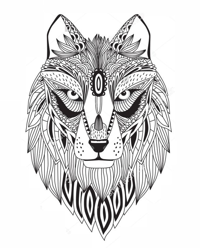 die besten ausmalbilder wölfe  beste wohnkultur