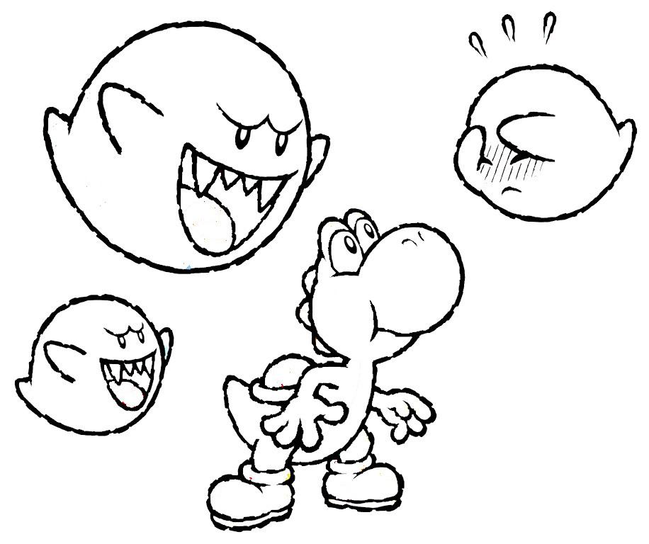 Ausmalbilder Yoshi  Malvorlagen fur kinder Ausmalbilder Yoshi kostenlos