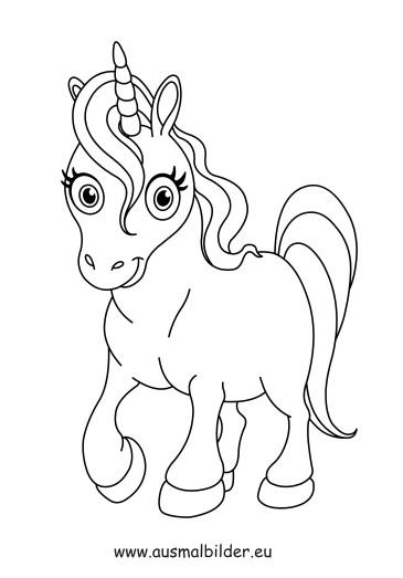 Ausmalbilder Zum Ausdrucken Einhorn  Ausmalbilder Einhorn Pferde Malvorlagen