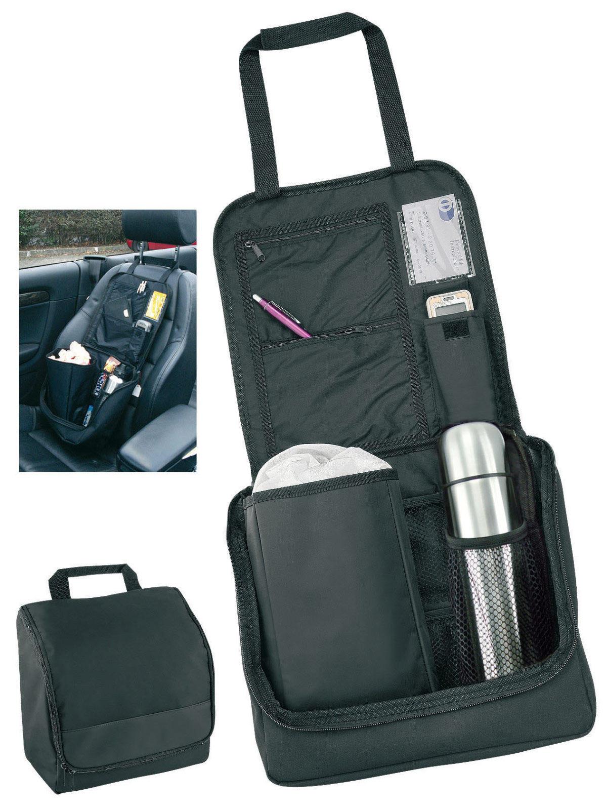 Auto Geschenke Für Männer  Auto Organizer und Thermoskanne Geschenk Set schwarz silber