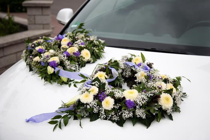 Autoschmuck Hochzeit Befestigung  Antennenschleifen Hochzeit