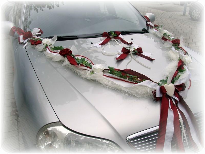 Autoschmuck Hochzeit Befestigung  3 tlg Autoschmuck Autodeko Hochzeit Autogirlande Braut