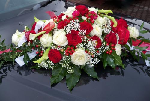 Autoschmuck Hochzeit Befestigung  Autoschmuck 005b