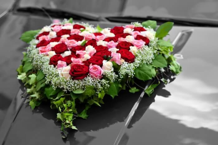 Autoschmuck Hochzeit Befestigung  Autodeko Hochzeit