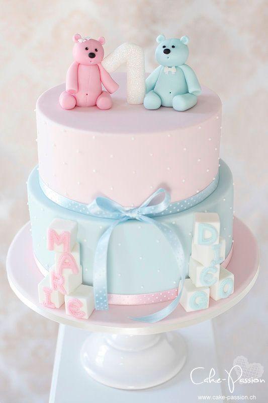 Baby Geburtstagstorte  geburtstagstorte twins zwillinge1