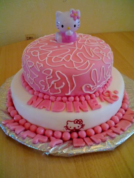 """Baby Geburtstagstorte  Tauftorte und Geburtstagstorte """"Hello Kitty"""""""