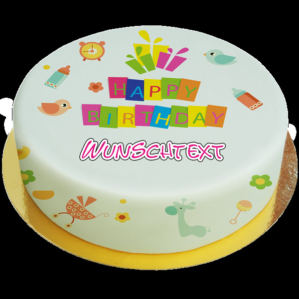 Baby Geburtstagstorte  Baby Torte Dream