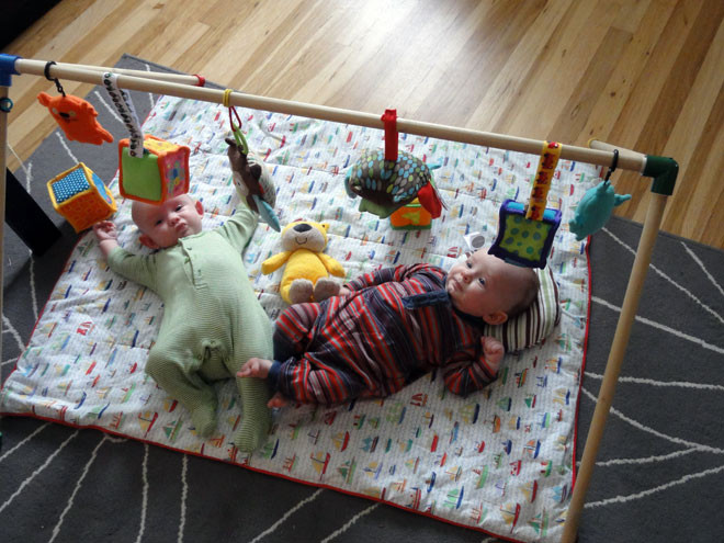 Baby Gym Diy  Avoiding Tacky Plastic Baby Toys Making A Homemade Baby Gym
