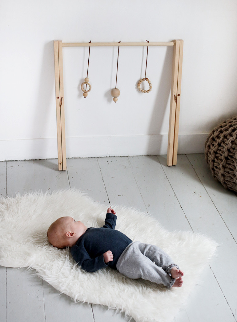 Baby Gym Diy  DIY Wooden Baby Gym The Merrythought