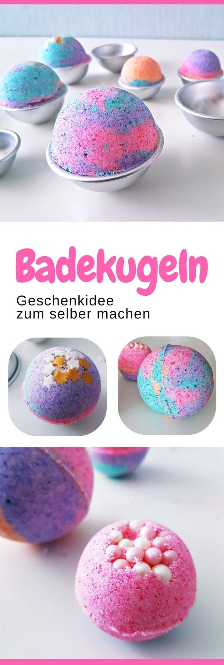 Badekugeln Diy  Anleitung Sprudelnde bunte Badekugeln für Kinder herstellen