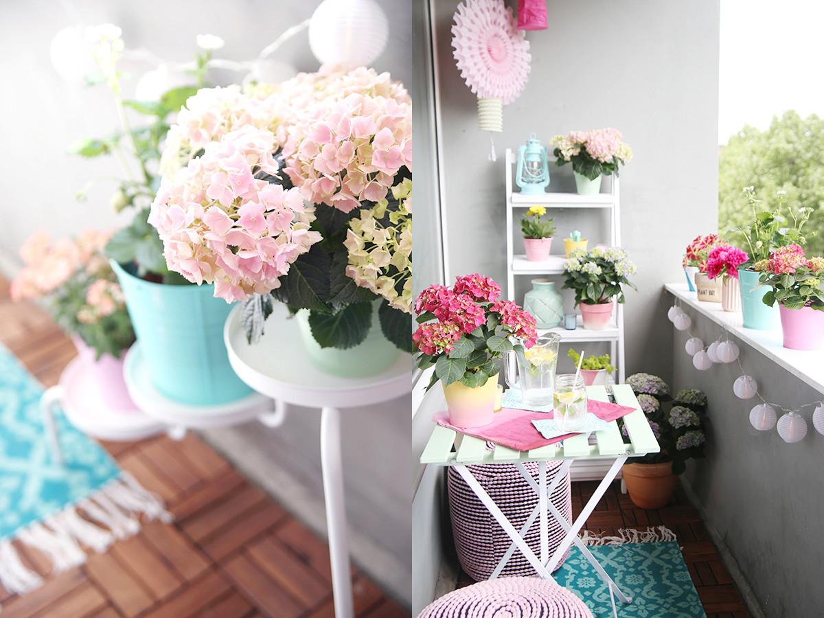 Balkon Deko Diy  Einmal alles in Pastell bitte DIY Balkon Umstyling mit
