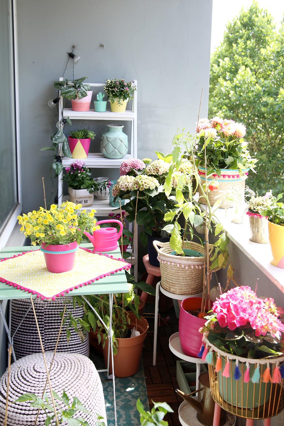 Balkon Deko Diy  3 DIY Ideen für deinen Boho Balkon & Pflanzen Pfle ipps