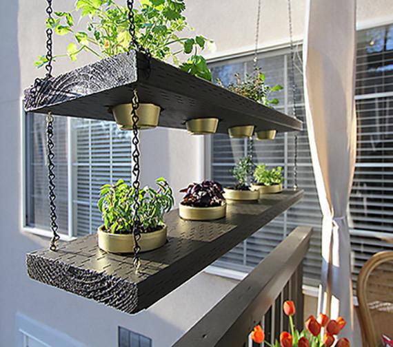 Balkon Diy  balkon modern gestalten und dekorieren mit DIY Hängegarten