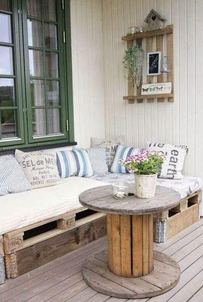 Balkon Diy  Die besten 25 Balkon sofa Ideen auf Pinterest