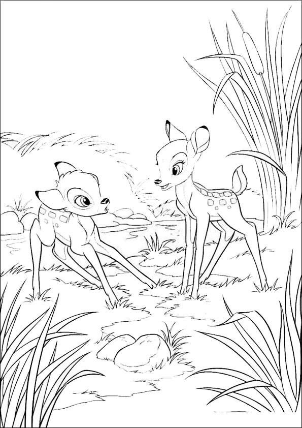 Bambi Ausmalbilder  Malvorlagen Bambi 8
