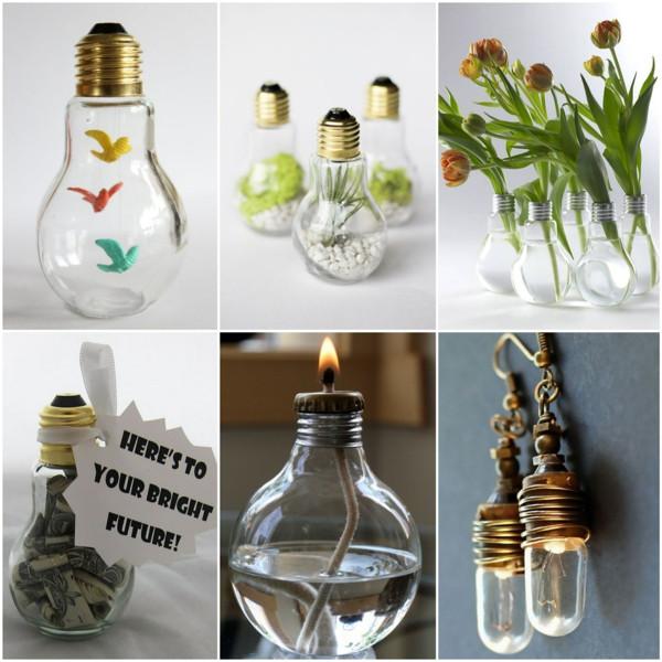 Bastelideen Diy  DIY Projekte mit alten Glühbirnen 25 kreative Bastelideen