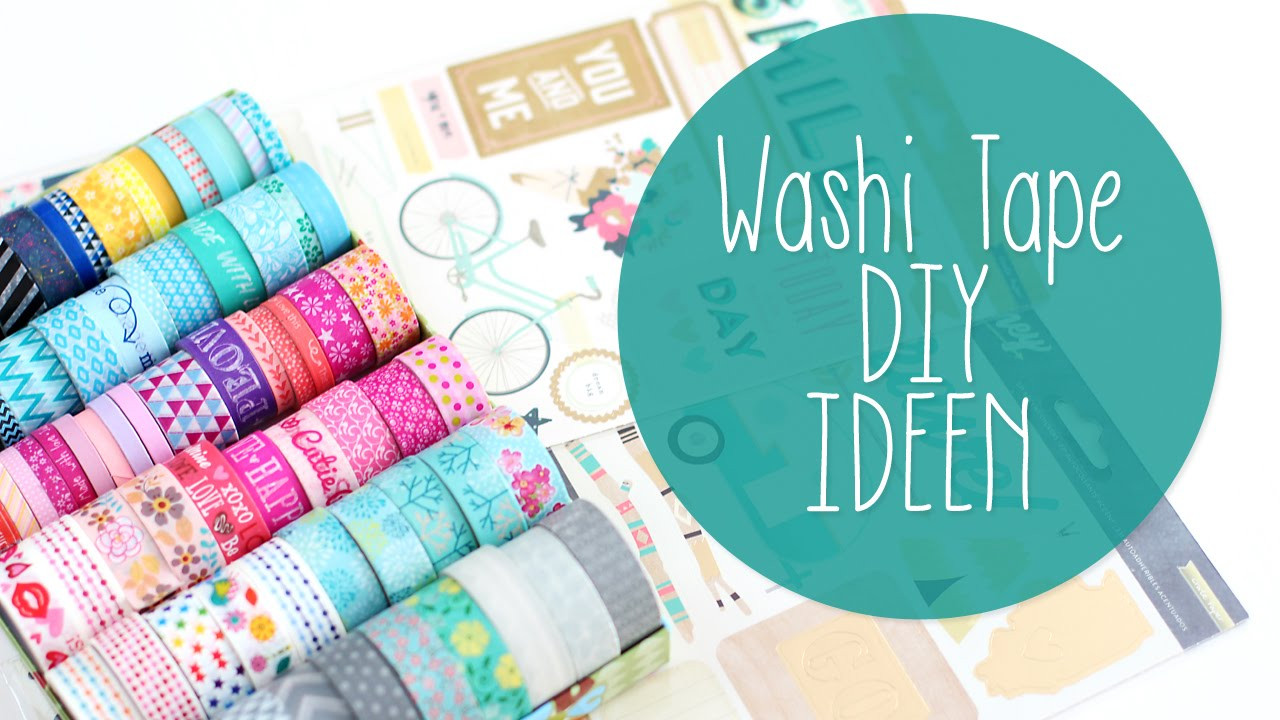 Bastelideen Diy  Washi Tape DIY Hacks DIY Handyhülle Deko Ideen Filofax