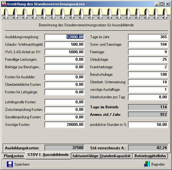 Berechnung Stundenverrechnungssatz Handwerk  Stundenverrechnung