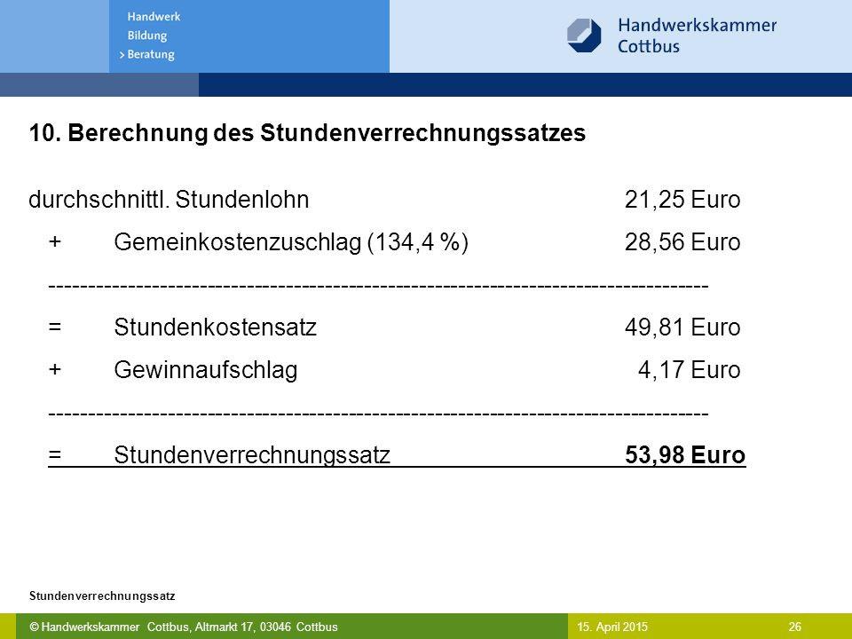 Berechnung Stundenverrechnungssatz Handwerk  Ermittlung des Stundenverrechnungssatzes ppt video