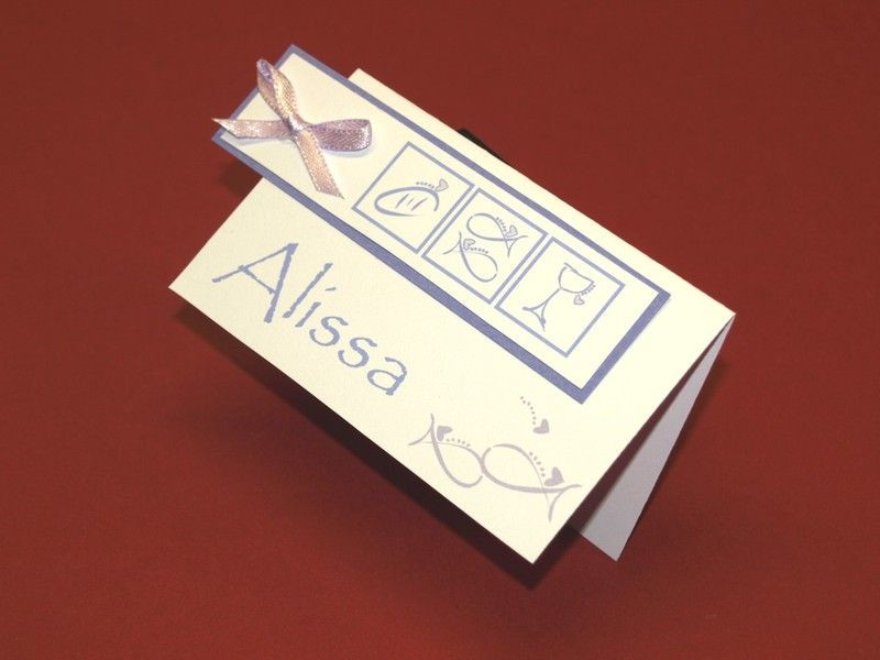 Besondere Geschenke Kommunion  12 Personalisierte Tischkarten zur Kommunion Konfi
