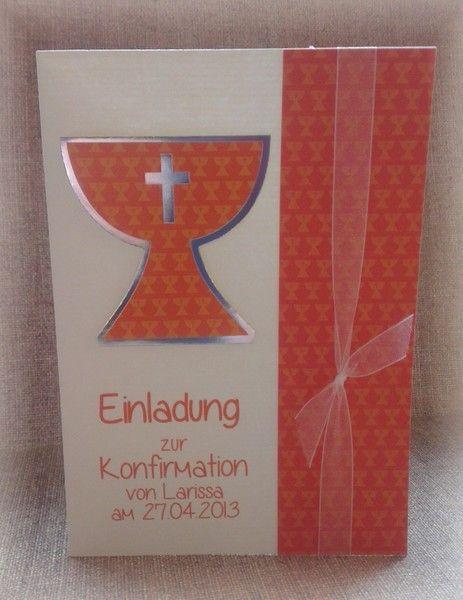Besondere Geschenke Kommunion  Einladung Einladungskarte Kommunion Konfirmation von CARD
