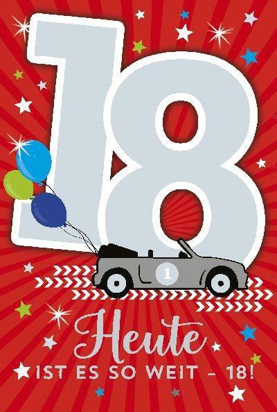 Besondere Geschenke Zum Geburtstag  Depesche Geburtstagskarte 18 Geburtstag mit Musik