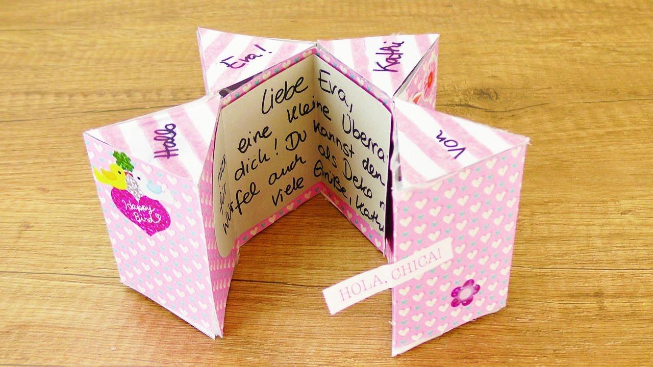 Beste Geburtstagsgeschenke  MAGISCHE KARTE Basteln für beste Freundin
