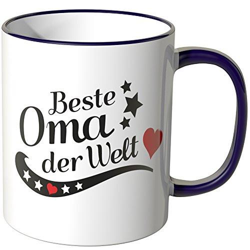 Beste Oma Geschenke  Wandkings Tasse Spruch Beste Oma der Welt als