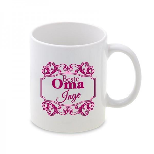 Beste Oma Geschenke  Tasse mit Ornament Beste Oma