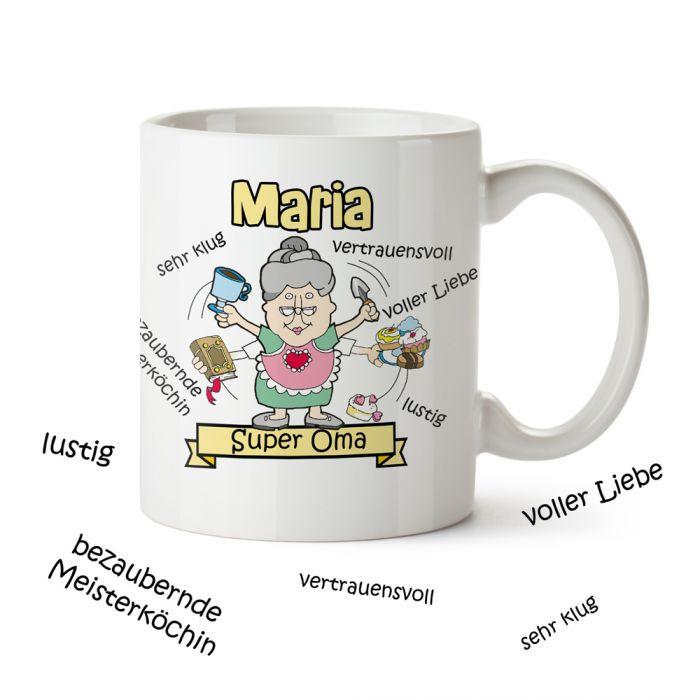Beste Oma Geschenke  Personalisierte Tasse Super Oma tolles Geschenk für Oma