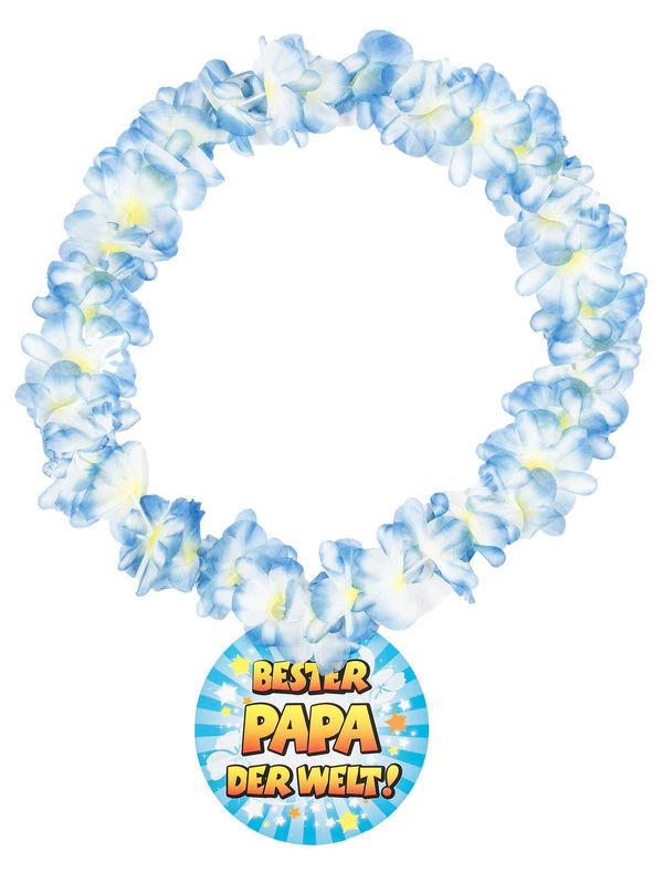Bester Papa Der Welt Geschenke  Halskette Bester Papa der Welt Hawaii Kette bunt 14cm