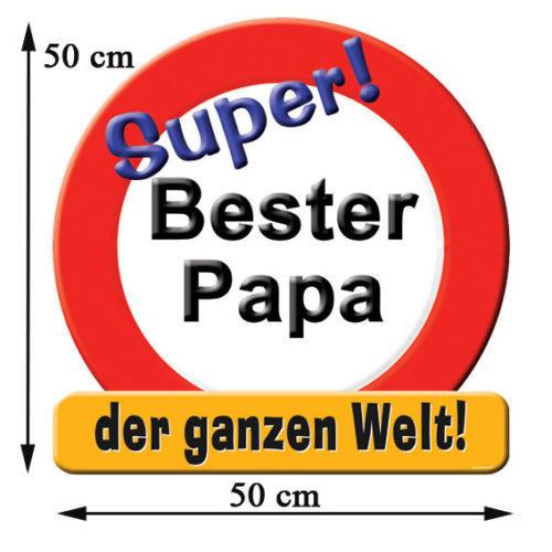 Bester Papa Der Welt Geschenke  Riesenschild Bester Papa der Welt Geburtstagsgeschenke