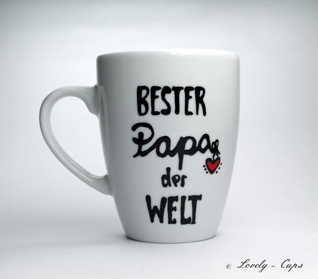 Bester Papa Der Welt Geschenke  Kunst Bester PAPA der Welt PAPA Tasse Geschenk für PAPA