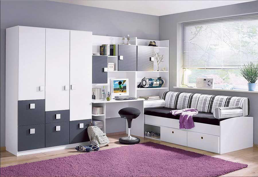 Bett Für Jungs  Jugendzimmer für jungs komplett mit weiß anthrazit