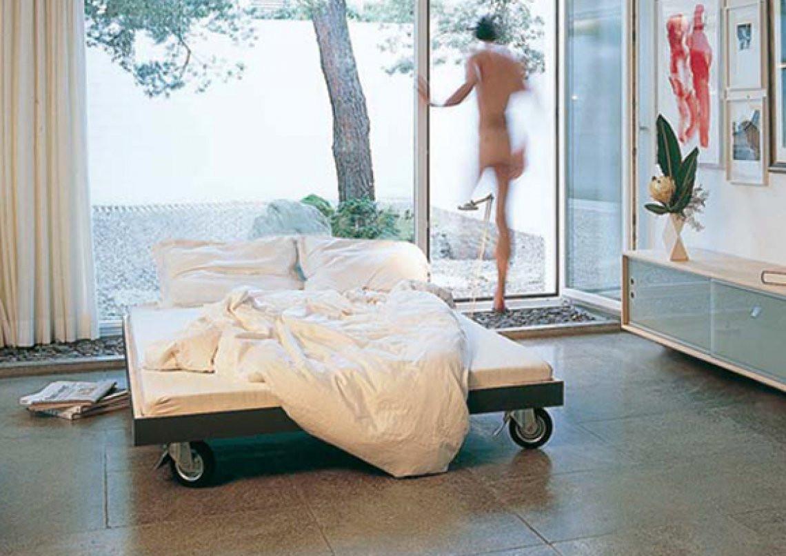 Bett Mit Rollen  70 Durchschnittlich Bett Mit RollenSchlafzimmer Deko Ideen