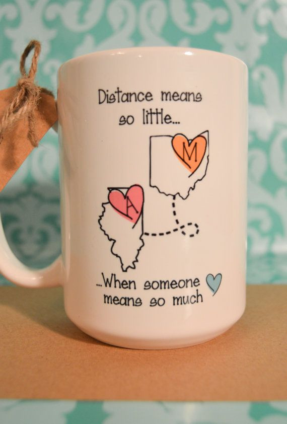 Beziehungs Geschenke  STATE to STATE Long Distance Mug 2 States 2 by