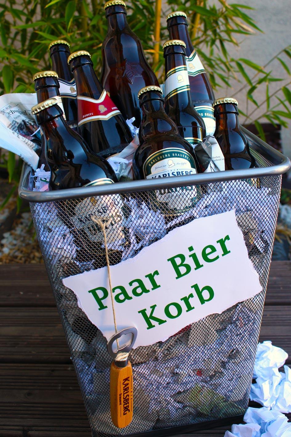 Bier Geschenke Selber Machen  EppelBlog Geschenkidee Der Paar Bier Korb