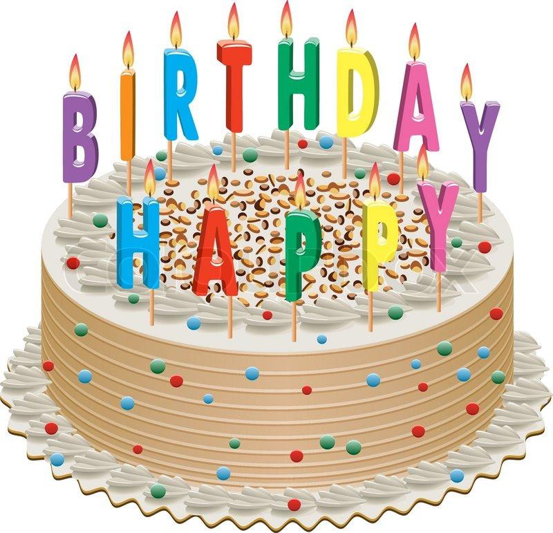 Bild Geburtstagstorte  Vektor Geburtstagstorte mit Vektorgrafik